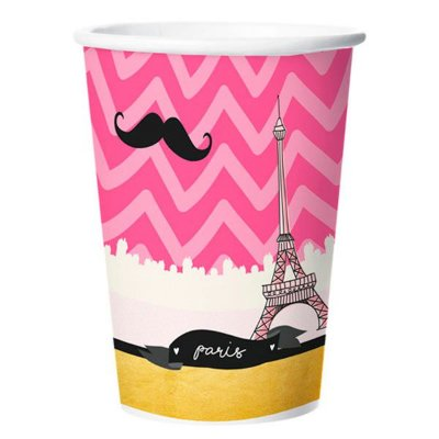 Copo de Papel 180ml - Paris- 08 unidades
