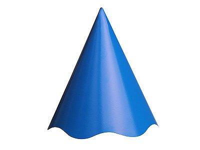 Chapéu de Aniversário Liso - Azul Royal - 08 unidades