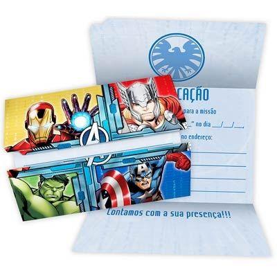 Convite - Vingadores Animated - 08 unidades