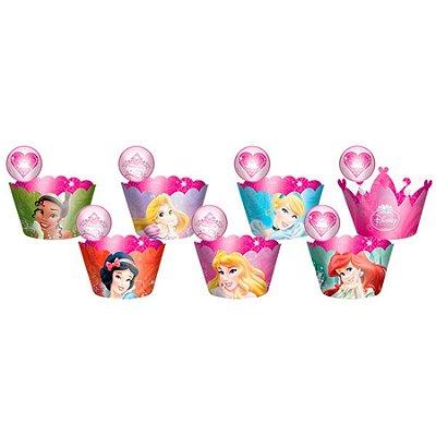 Cupcake Wrapper com enfeite Princesas Debut - 12 und