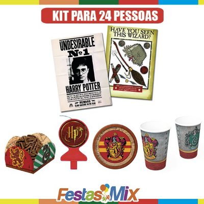 Kit Festa Harry Potter-  24 Pessoas