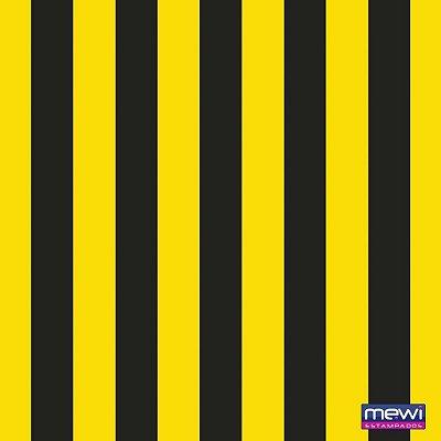 TNT Estampado - Listras Amarelo com Preto - 05 Metros