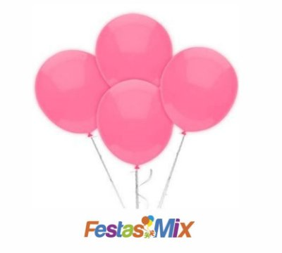 Balão Latex 6,5 Polegadas - Rosa claro - 50 unidades