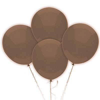 Balão N°9 Polegadas - Marrom - 50 unidades