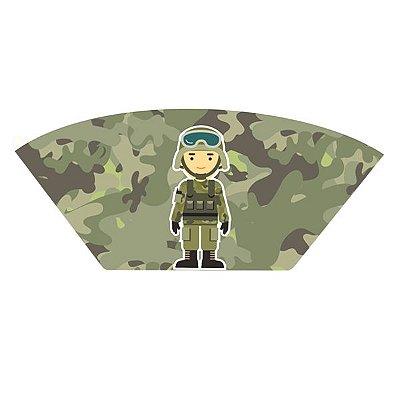 Caixa para Salgados - Festa Militar - 12 unidades