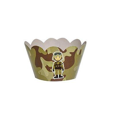 Saia de Cupcake -Festa Militar - 12 unidades