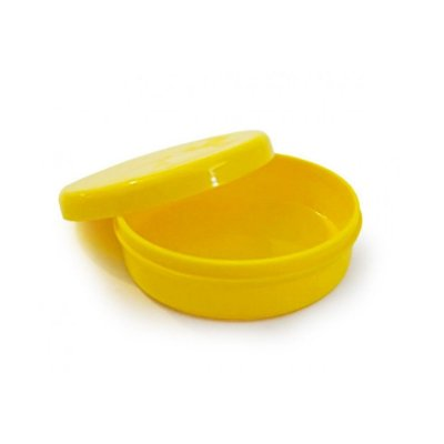 Latinha Plástica -5x1  Amarelo - 10 unidades