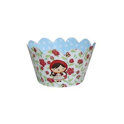 Saia de Cupcake Chapeuzinho Vermelho - 12 unidades
