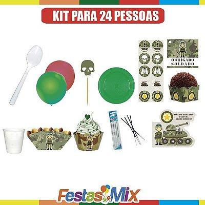 Kit Festa Militar - 24 pessoas