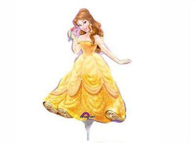 Balão Metalizado Mini Shape - Princesa Bela