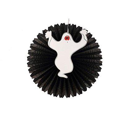 Leque de Papel Hallowen -Fantasma- 40 cm
