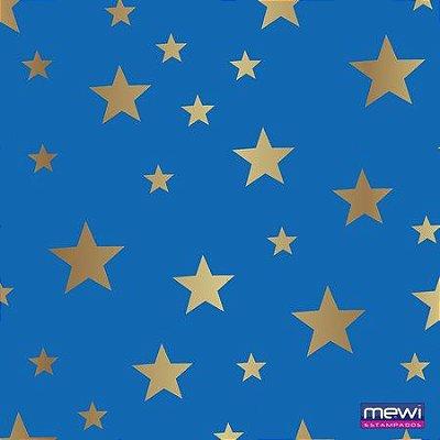 TNT Estampado - Estrela Dourada - 01 Metro