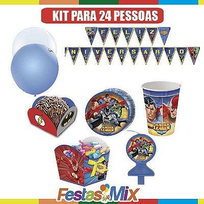 Kit Festa Infantil - Liga da Justiça- 24 pessoas