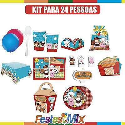 Kit Festa Infantil - Fazendinha - 24 Pessoas