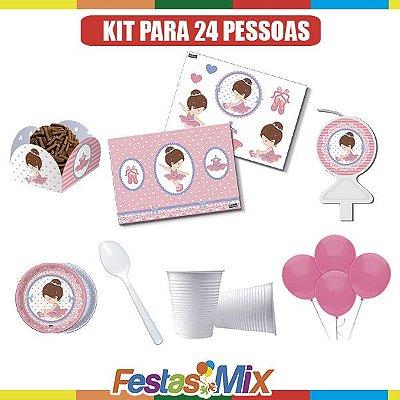 Kit Festa Infantil - Bailarina - 24 pessoas
