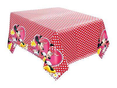 Toalha de Mesa de Papel - Minnie Red
