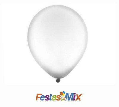Balão Látex 9 Polegadas - Cristal - 50 unidades