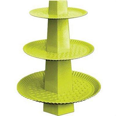 Baleiro para doces - Verde Limão - 3 Andares