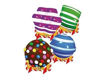 Kit Decoração de Mesa - Candy Crush - 02 pacotes