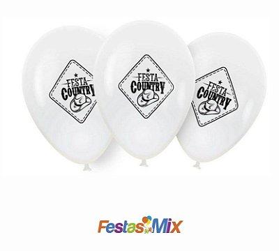 Balão Latex 9 polegadas - Festa Country - 25 unidades