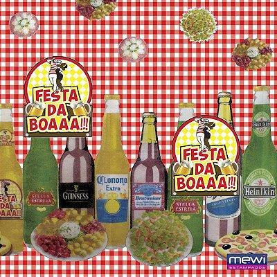 TNT Estampado - Festa da Boa Vermelho - 05 Metros