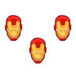 Mini Carinhas EVA - Homem de Ferro - 06 unidades