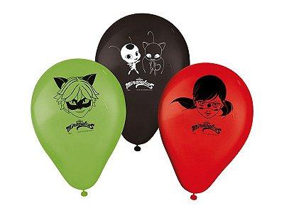 Balão Látex 9 Polegadas - LadyBug - 25 unidades