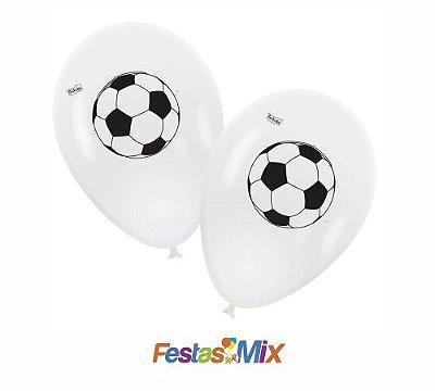 Balão Latex 9 polegadas - Apaixonados por Futebol - 25 und