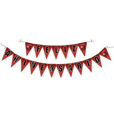 Faixa Feliz Aniversário - Festa  Flamengo