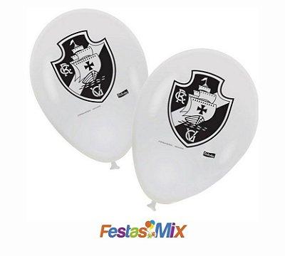 Balão Latex 9 Polegadas - Vasco - 25  unidades