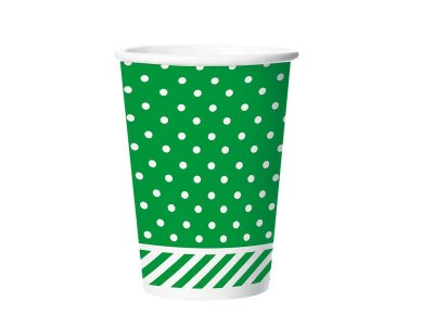 Copo de Papel 180ml - Festa Colors Verde - 08 unidades