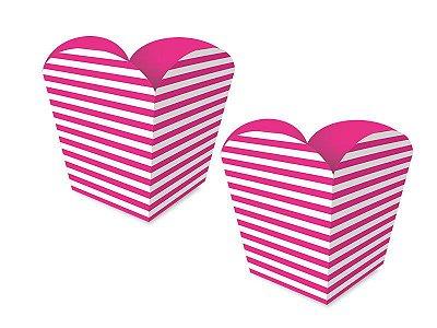 Cachepot Pequeno - Festa Colors Rosa - 08 unidades