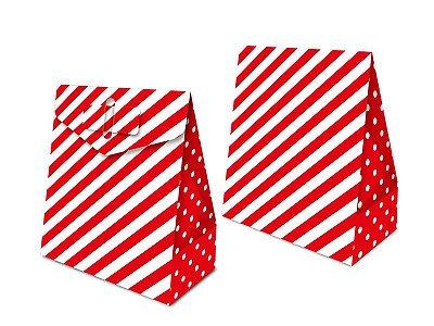 Caixa Surpresa - Festa Colors Vermelho - 08 unidades