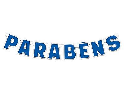 Faixa Parabéns - Festa Colors - Azul