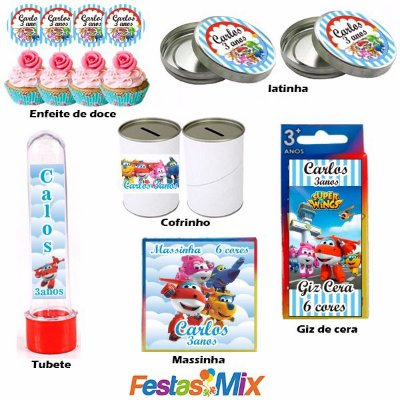 Kit Festa - Lembrancinha Personalizada - Super Wings