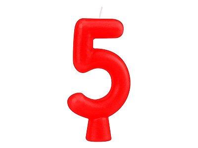 Vela Solid Colors - Vermelha - Nº 5
