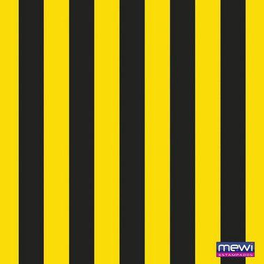 TNT Estampado - Listras Amarelo com Preto - 01 Metro