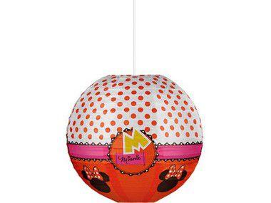 Kit Lanterna de papel 30cm - Minnie Vermelha - 04 pacotes