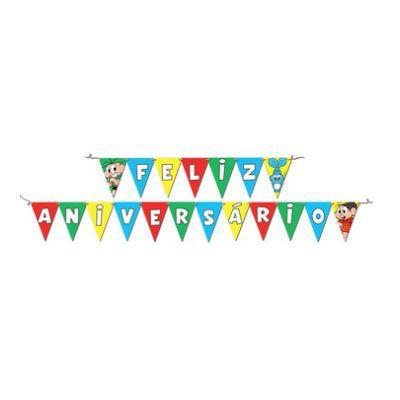 Faixa Feliz Aniversário - Turma da Mônica