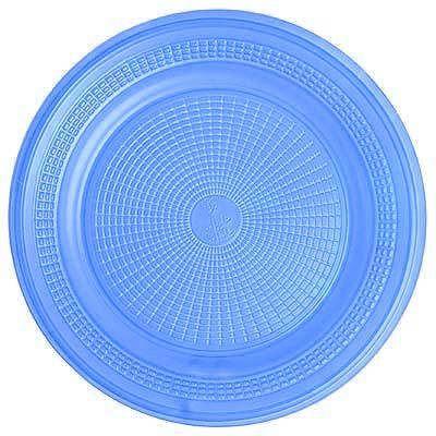 Prato Descartável - Azul Claro - 10 unidades