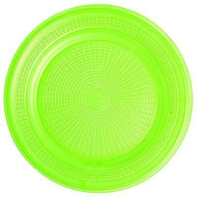 Prato Descartável - Verde - 10 unidades