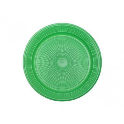Prato Descartável - Verde Escuro - 10 unidades