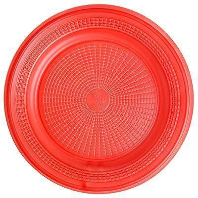 Prato Descartável - Vermelho - 10 unidades