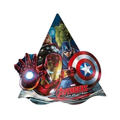 Chapéu de Aniversário - Os Vingadores 2 - 08 unidades