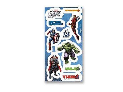 Adesivo para Lembrança- Os Vingadores Animated -04 cartelas