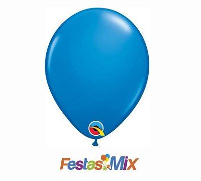 Balão Látex 5 Polegadas - Azul Escuro - 05 unidades