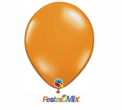Balão Látex 11 Polegadas - Laranja Mandarim - 05 unidades