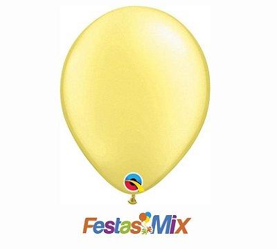 Balão Látex 11 Polegadas - Limão Chiffon - 05 unidades