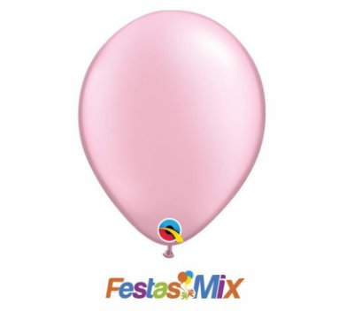 Balão Látex 11 Polegadas - Rosa Perolado - 05 unidades