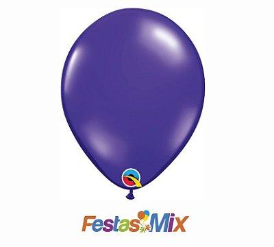 Balão Látex 11 Polegadas - Roxo Quartzo - 05 unidades